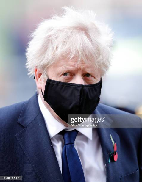 Prime Minister Boris Johnson attends a service to mark the centenary of the burial of the Unknown Warrior at Westminster Abbey on November 11, 2020...