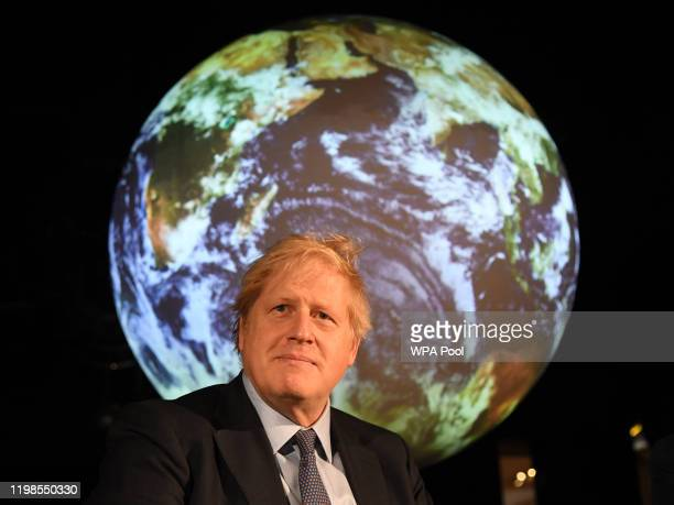 Prime minister Boris Johnson attends the launch of the UK-hosted COP26 UN Climate Summit, being held in partnership with Italy this autumn in...