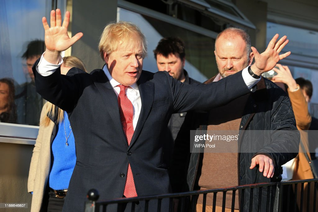 Prime Minister Boris Johnson Visits County Durham Following Election Victory : News Photo