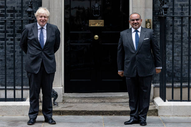 GBR: UK Prime Minister Hosts The Crown Prince Of Bahrain