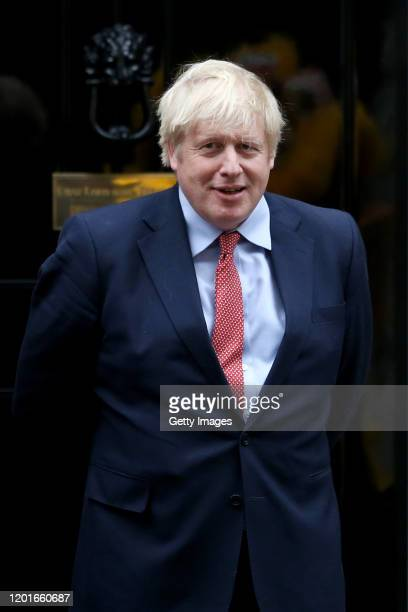 Prime Minister Boris Johnson hosts Chinese New Year celebrations outside 10 Downing Street on January 24 2020 in London England The lunar new year...
