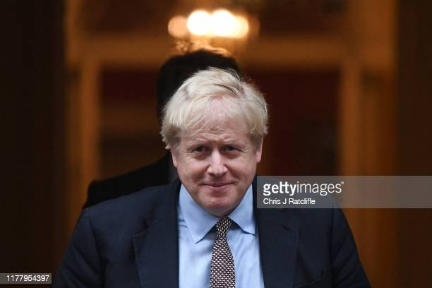 Prime Minister Boris Johnson leaves Downing Street on October 24, 2019 in London, England. As the government awaits a response from the European...