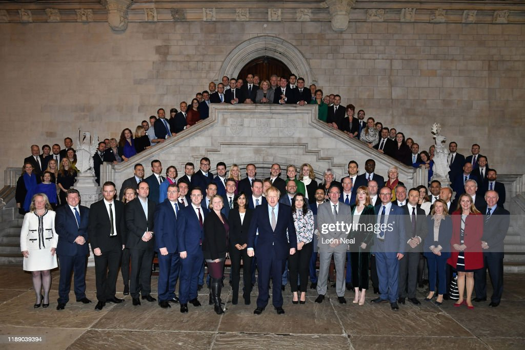 Newly-elected Conservative MPs Are Pictured With Leader Boris Johnson : News Photo