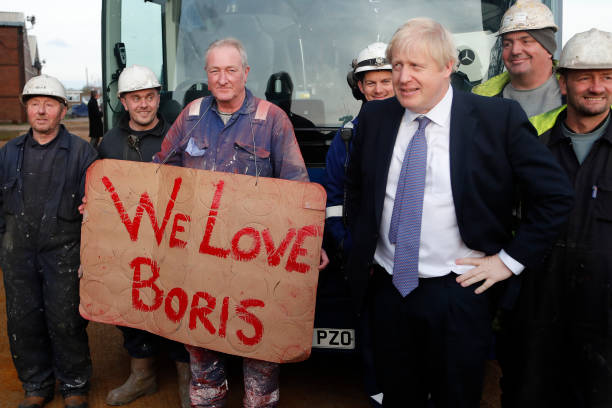 GBR: Boris Johnson Campaigns In The North East