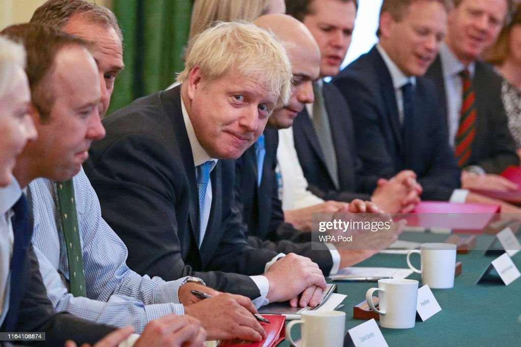Prime Minister Boris Johnson Meets With His New Cabinet : News Photo