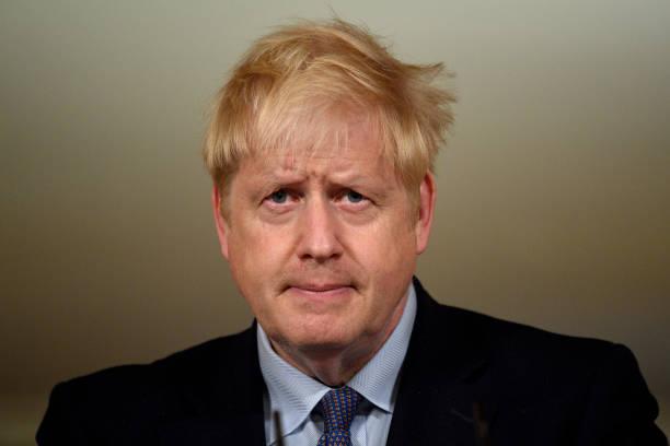 GBR: Boris Johnson Holds Virtual Press Conference At Downing Street