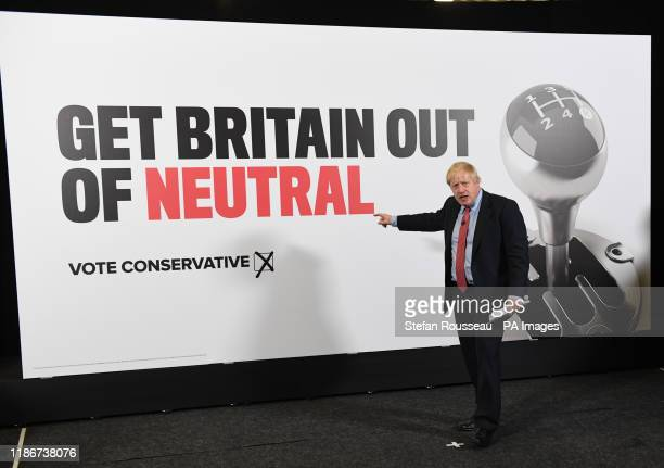 Prime Minister Boris Johnson speaks during a visit to the Kent Event Centre, Maidstone, while on the election campaign trail.