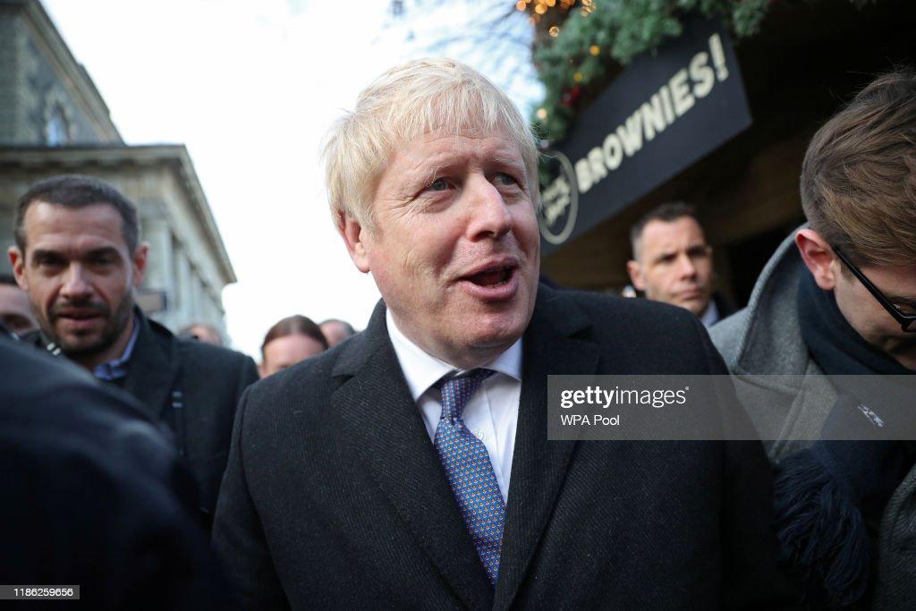 Boris Johnson Campaigns In Salisbury : News Photo