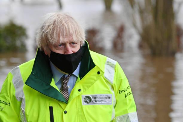 GBR: Prime Minister Boris Johnson Visits Flood-Hit Greater Manchester