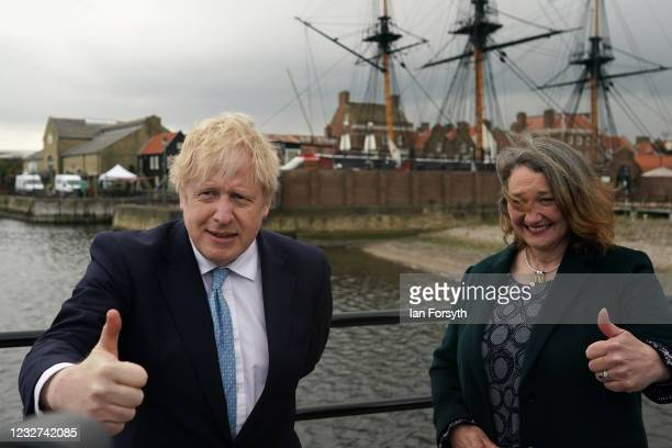 Prime Minister Boris Johnson visits Hartlepool after the Conservative Party candidate Jill Mortimer won the Hartlepool Parliamentary By-election, at...