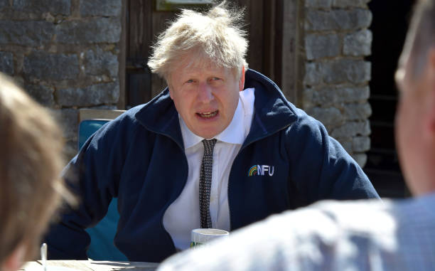 GBR: Boris Johnson  Campaigns In Derbyshire Ahead Of Elections
