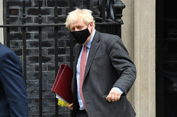 GBR: Boris Johnson Leaves Downing Street For PMQs