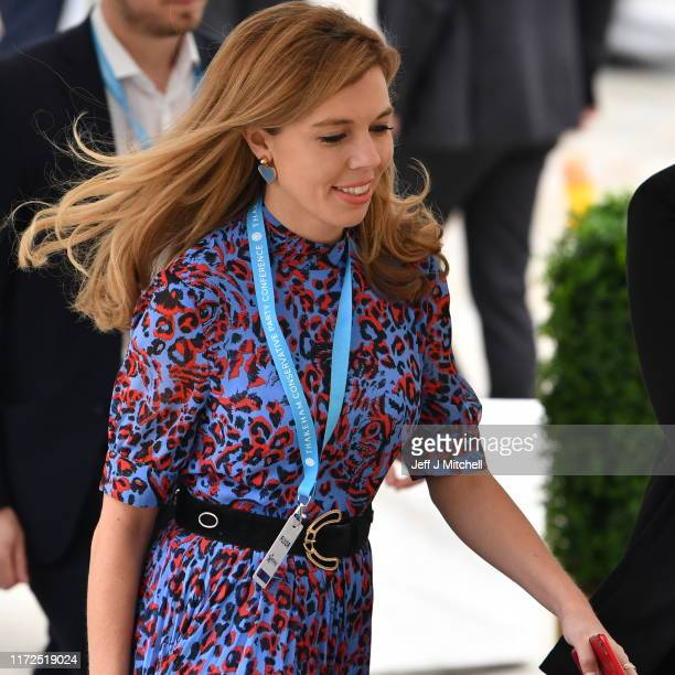 Prime Minister Boris Johnson's girlfriend Carrie Symonds attends day two of the 2019 Conservative Party Conference at Manchester Central on September...