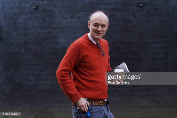 Prime Minister Boris Johnson's senior adviser Dominic Cummings arrives to meet with the Prime Minister in the wake of the killing Iranian general...