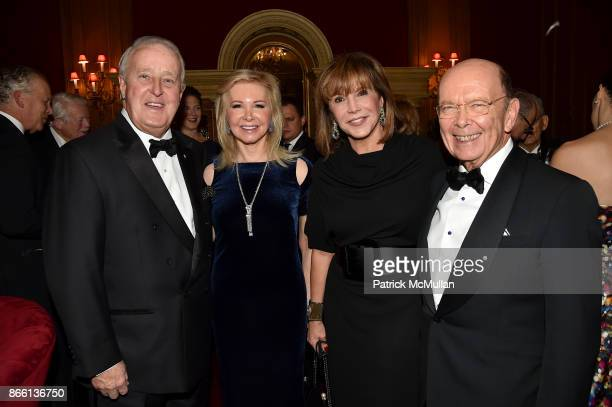 Prime Minister Brian Mulroney Hilary Geary Ross Mila Mulroney and Wilbur Ross attend the Council for Canadian American Relations Gala at The...