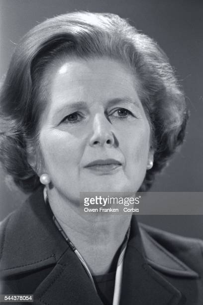 Prime minister candidate Margaret Thatcher during the 1979 British parliamentary election Thatcher representing the Conservative Party would become...