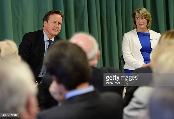 Prime Minister David Cameron and one of the Conservative Party's two applicants councillors Anna Firth for their nomination in the upcoming Rochester...