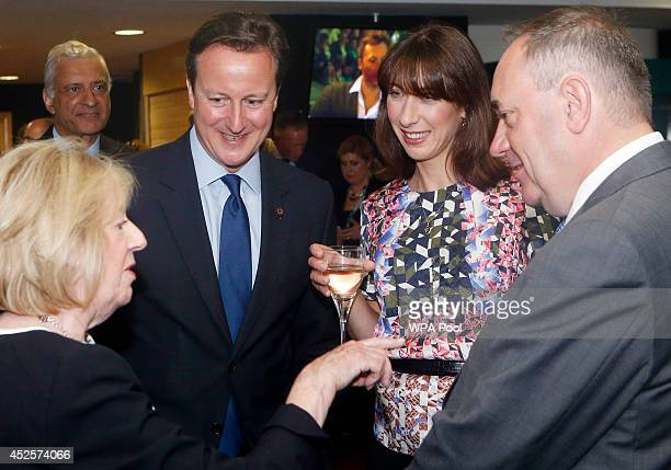 Prime Minister David Cameron and wife Samantha Cameron are pictured with Scotland's First Minister Alex Salmond and his wife Moira Salmond during a...