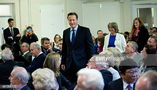 Prime Minister David Cameron arrives with the Conservative Party's two applicants councillors Anna Firth and Kelly Tolhurst for their nomination in...