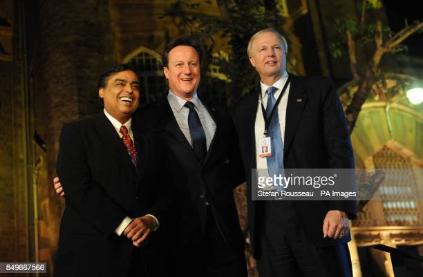 Prime Minister David Cameron attends a reception at the Museum of Mumbai for Indian and British businessmen and women and hosted by the CEO of BP Bob...