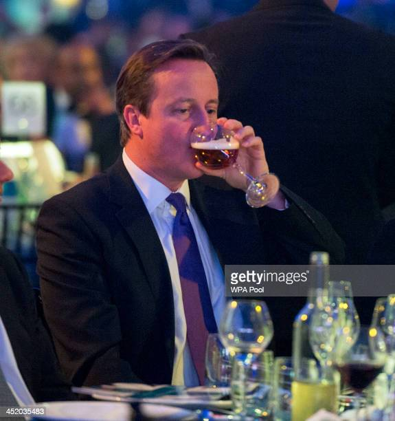Prime Minister David Cameron attends the British curry awards at Battersea Evolution on November 25 2013 in London England The annual event has been...