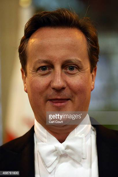 Prime Minister David Cameron attends the Lord Mayor's Banquet at The Guildhall on November 10 2014 in London England The Lord Mayor of London Alan...