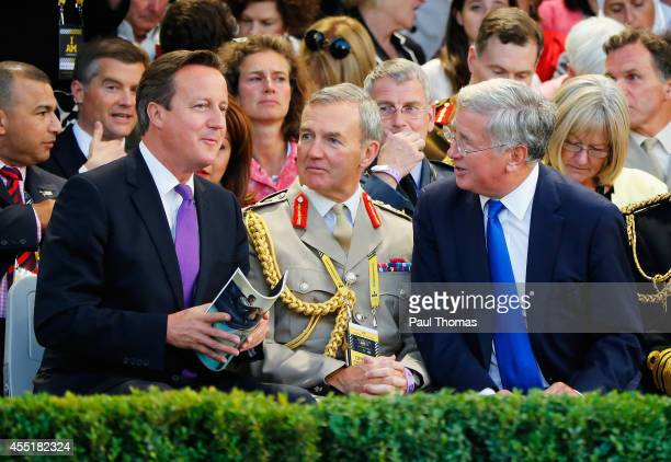 Prime Minister David Cameron attends the opening ceremony for the Invictus Games presented by Jaguar Land Rover at Queen Elizabeth Olympic Park on...
