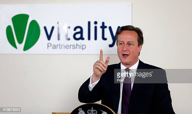 Prime Minister David Cameron delivers a keynote speech on May 18 2015 in Birmingham England David Cameron renewed his preelection vow to boost NHS...