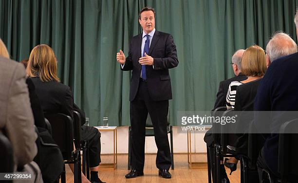 Prime Minister David Cameron introduces the Conservative Party's two applicants councillors Anna Firth and Kelly Tolhurst for their nomination in the...