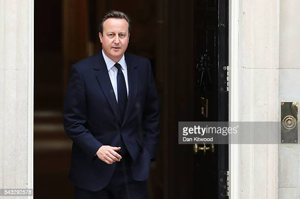 Prime Minister, David Cameron leaves 10 Downing Street following a cabinet meeting on June 27, 2016 in London, England. British Prime Minister David...