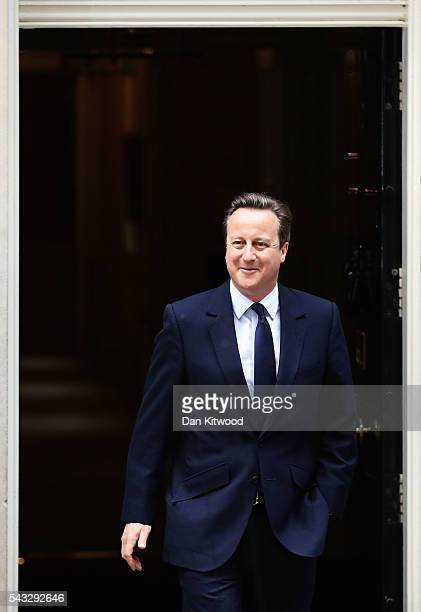 Prime Minister David Cameron leaves 10 Downing Street following a cabinet meeting on June 27 2016 in London England British Prime Minister David...