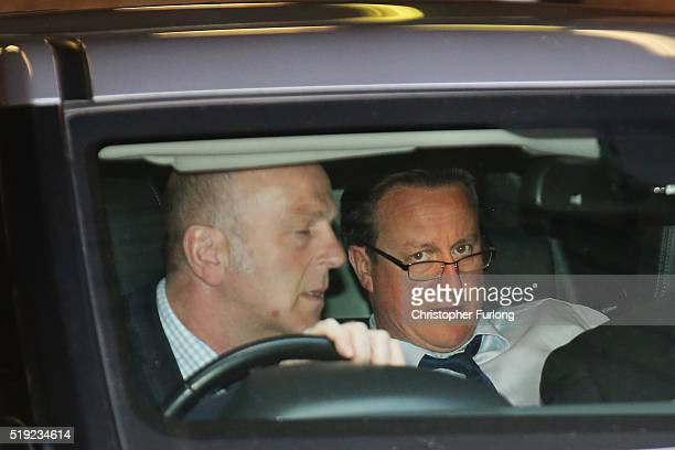Prime Minister David Cameron leaves after holding a QA session on the forthcoming European Union referendum with staff of PricewaterhouseCoopers on...