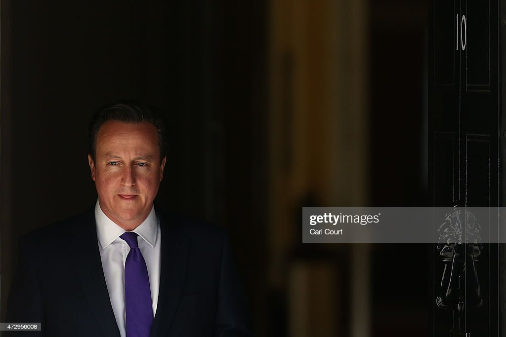 Prime Minister David Cameron leaves Downing Street on May 11, 2015 in London, England. Prime Minister David Cameron continued to announce his new cabinet with many ministers keeping their old positions.