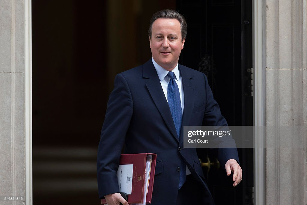 Prime Minister David Cameron leaves number 10 Downing Street to attend his final Prime Minister's questions on July 13, 2016 in London, England. David Cameron leaves Downing Street today having been Prime Minister of the United Kingdom since May 2010 and Leader of the Conservative Party since December 2005. He is succeeded by former Home Secretary Theresa May and will remain as Member of Parliament for Witney in Oxfordshire.