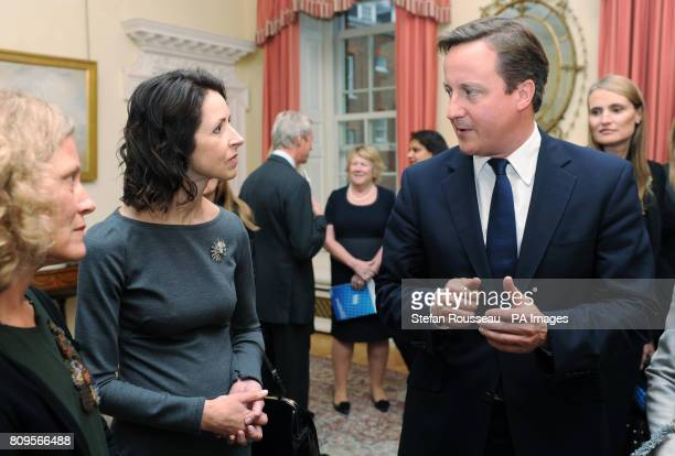 Prime Minister David Cameron meets Helena Morrissey founder of the 30% Club a group of women who have led the way in supporting greater diversity in...
