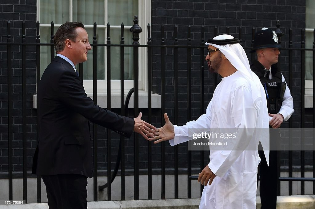 Crown Prince Of Abu Dhabi Arrival At Downing Street