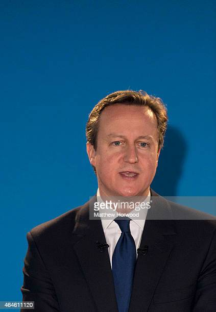 Prime Minister David Cameron speaks during the Welsh Conservative Party Conference at the SWALEC Stadium in Cardiff Wales The Prime Minister is...