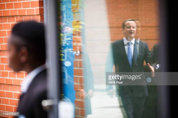Prime Minister David Cameron visits Perry Beeches III Free School on September 3 2013 in Birmingham England It is predicted that by 2016 two thirds...
