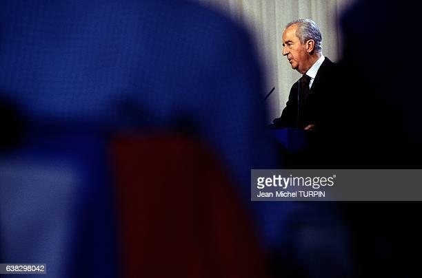 Prime minister Edouard Balladur during the UDF meeting In Vittel France on September 30 1994