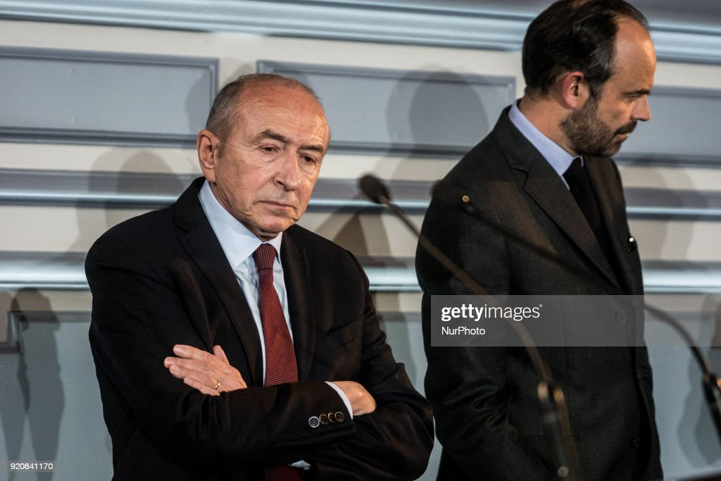 Edouard Philippe and Gerard Collomb in Lyon