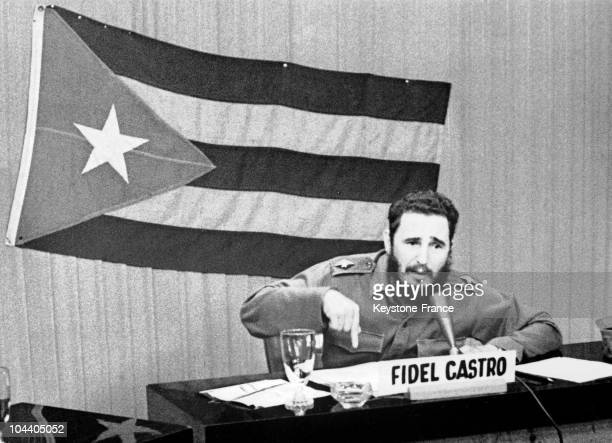 Prime Minister Fidel CASTRO giving a radio and televised speech during which he speaks about the measures taken by the United States regarding Cuba...