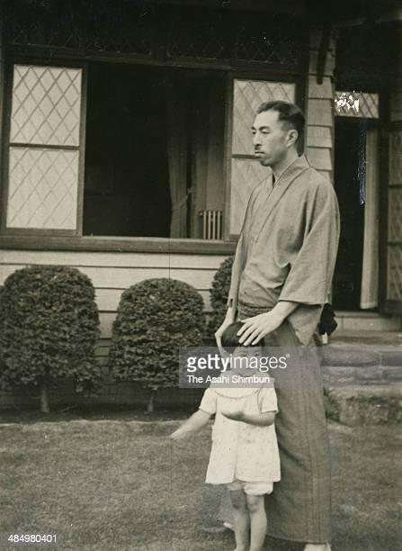 Prime Minister Fumimaro Konoe is seen at his villa on July 3 1937 in Kamakura Kanagawa Japan Konoe was three time Prime Minister of Japan 34th 38th...