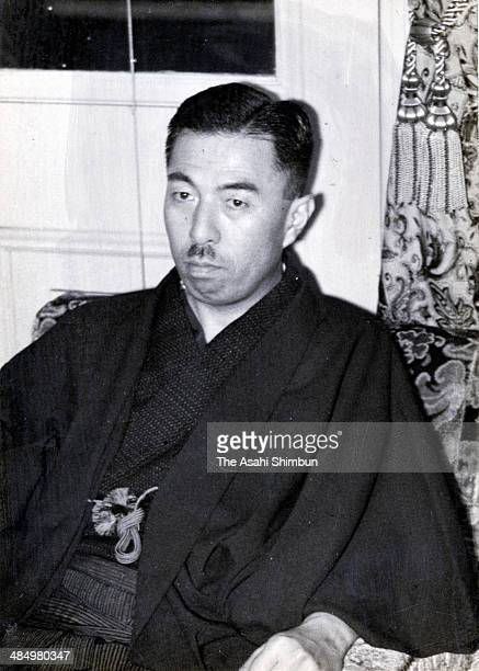 Prime Minister Fumimaro Konoe is seen on June 2 1937 in Tokyo Japan Konoe was three time Prime Minister of Japan 34th 38th and 39th