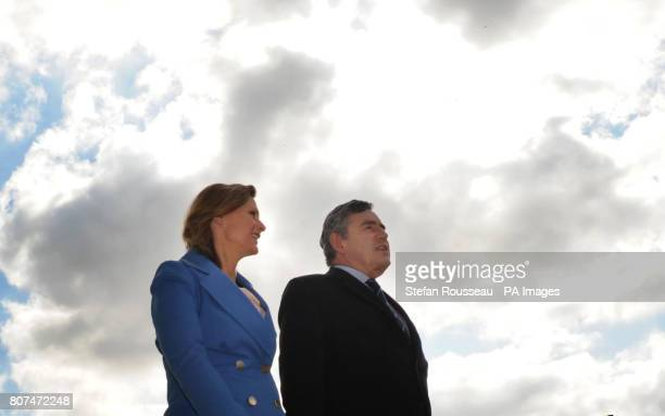 Prime Minister Gordon Brown and his wife Sarah take a walk by the Leeds Liverpool Canal in Leeds
