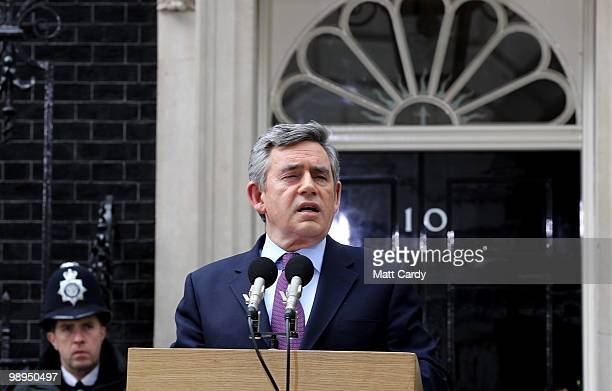 Prime Minister Gordon Brown speaks about the current state of Government and announces that he will step down as Labour leader outside number 10...