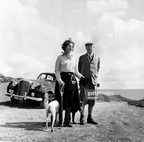 Prime Minister Harold Macmillan with Her Grace the Duchess of Devonshire Barden High Moor Bolton Abbey North Yorkshire 18th August 1962