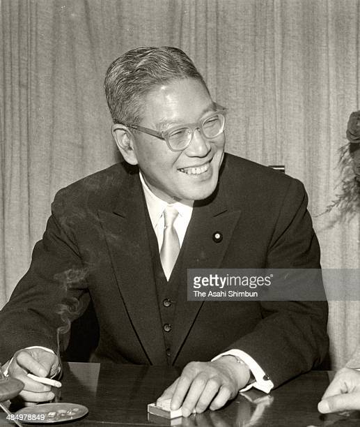 Prime Minister Hayato Ikeda speaks during the Asahi Shimbun interveiw in 1963 in Tokyo Japan Hayato Ikeda was three time Prime Minister of Japan 58th...