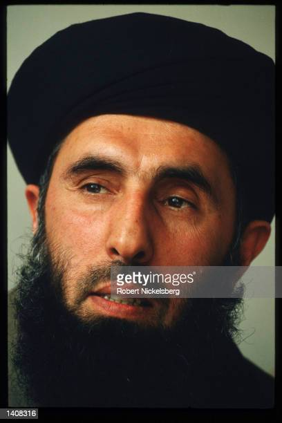 Prime Minister Hekmatyar speaks March 15 1994 in Charasiab Afghanistan The civilian population has endured extensive suffering since Kabul has been...