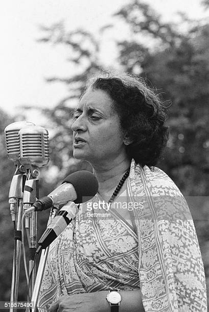 Prime Minister Indira Gandhi [19171984] declares India to be in a state of emergency allowing her to jail her political opponents 1975