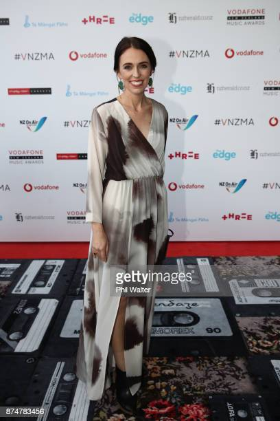 Prime Minister Jacinda Ardern arrives for the 2017 Vodafone New Zealand Music Awards on November 16 2017 in Auckland New Zealand